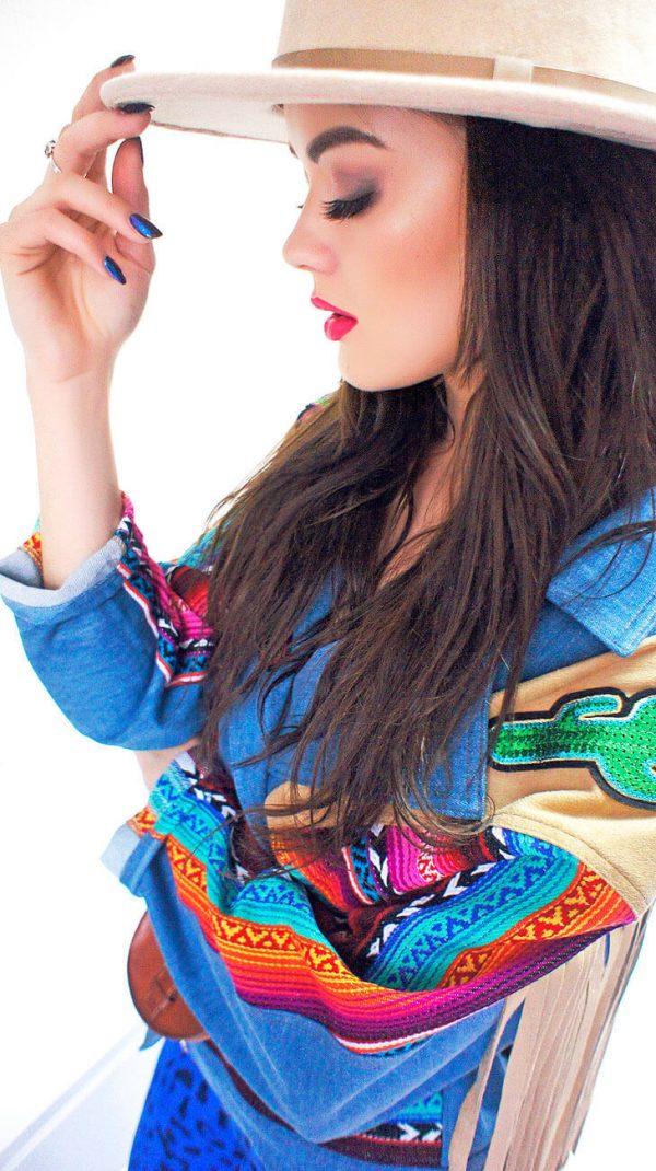 Super kurtka z frędzlami w klimacie bohemy artystycznej - Kurtka Gypsy