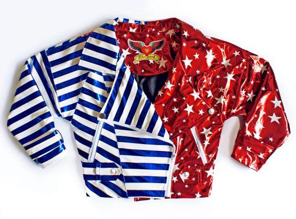 Odjazdowa ramoneska w rockandrollowym stylu. W błyszczące gwiazdy i pasy - Ramoneska Hawana