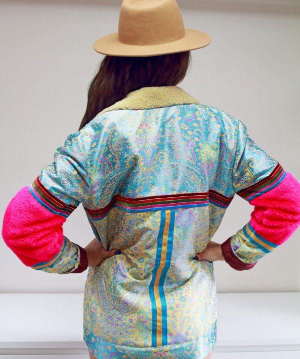 Błękitna, ciepła kurtka GYPSY.