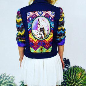 Piękna kurtka w stylu boho z rękawami z fantastycznej tkaniny - Kurtka Wild Thing