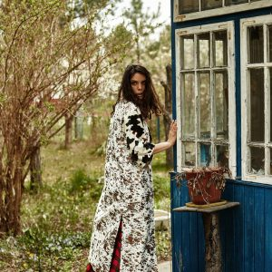 ługa sukienka w rasową kratę - Sukienka Sophie Czerwona