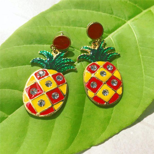 Kolczyki Ananasy