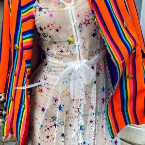 Sukienka w błyszczące gwiazdy
