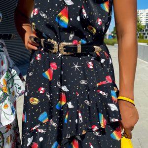 Sukienka kosmos czarna.