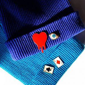 Turkusowa czapka beanie