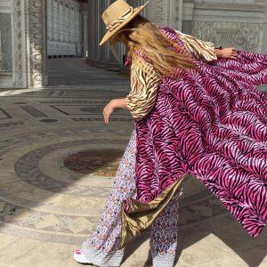 Płaszcz Zebra Różowy
