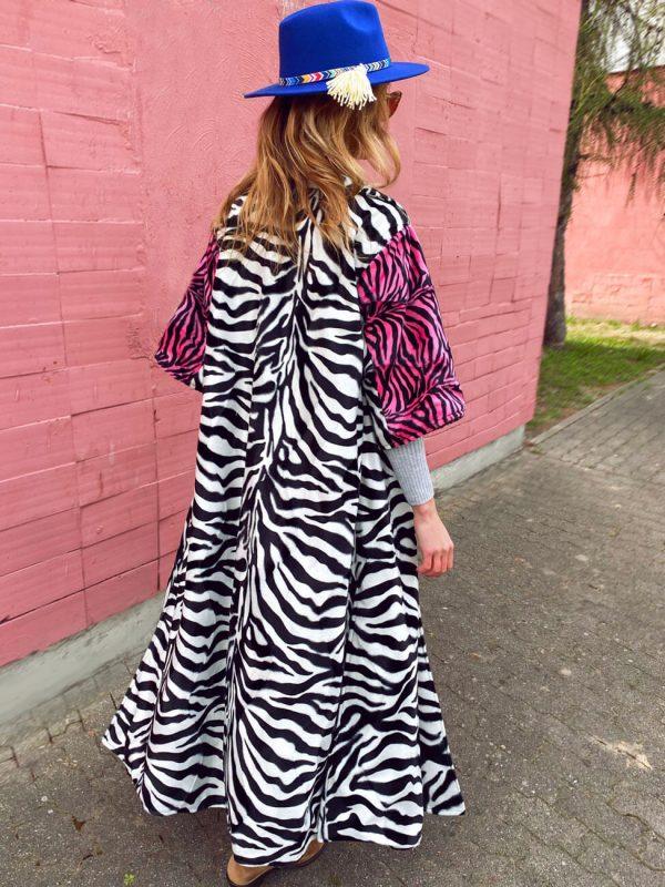 Płaszcz Zebra Czarny