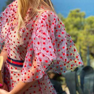 Sukienka Kropki Czerwone