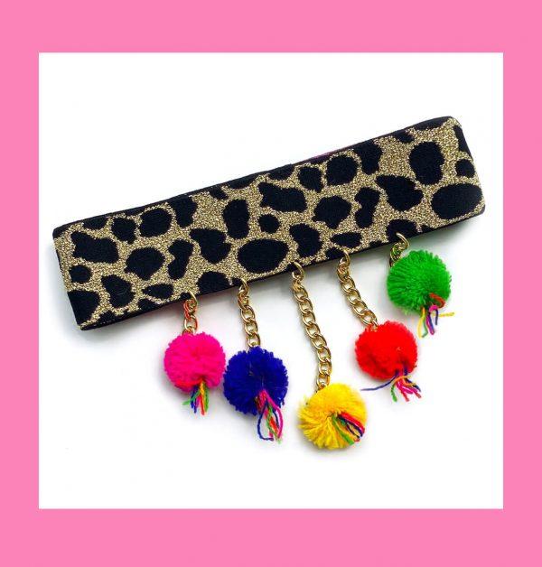 Obróżka Leopard Złoty