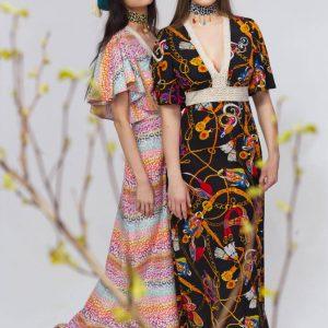 Sukienka Leopard Pastelowy