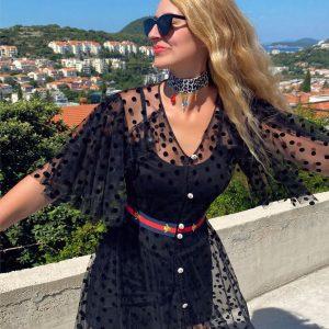Sukienka Kropki Czarna